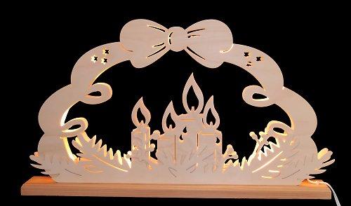 Světelný vánoční oblouk - Mašle