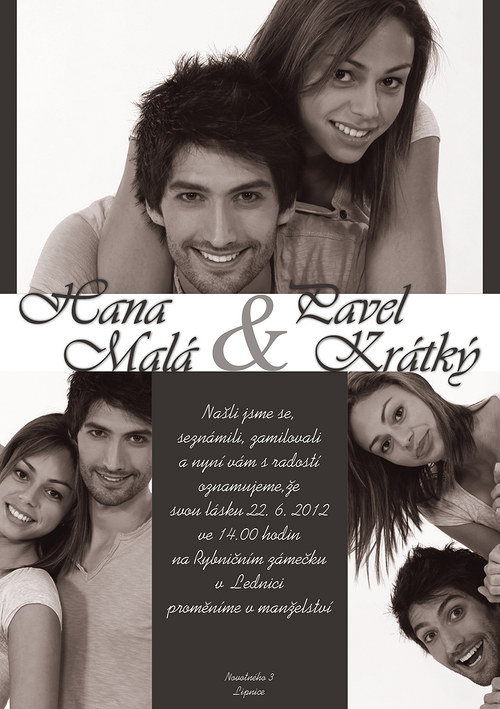 Svatební oznámení - Foto IV. na přání