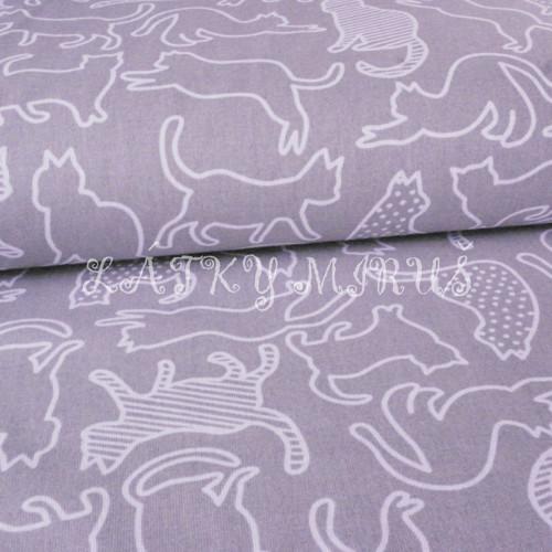 č.3718 kočky na šedé