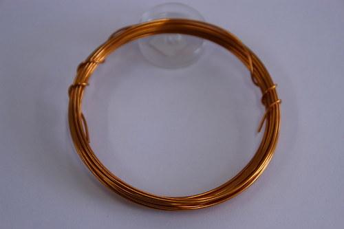 Měděný drátek 1mm - sv.oranžový, návin 3,8-4m