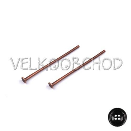 Ketlovací nýty 30 mm (50 ks) - staroměď
