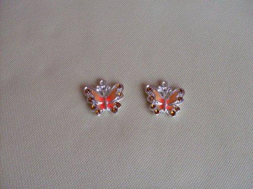 Oranžový motýlek - 2ks