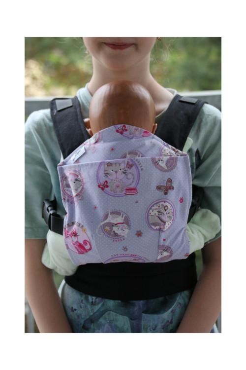 Nosítko pro panenky Fialové kočičky SKLADEM