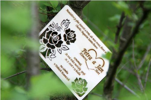 Navždy spolu - svatební oznámení - růže II.