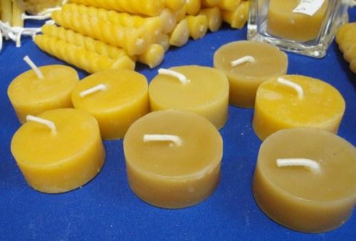 Svíčka ze včelího vosku - čajová