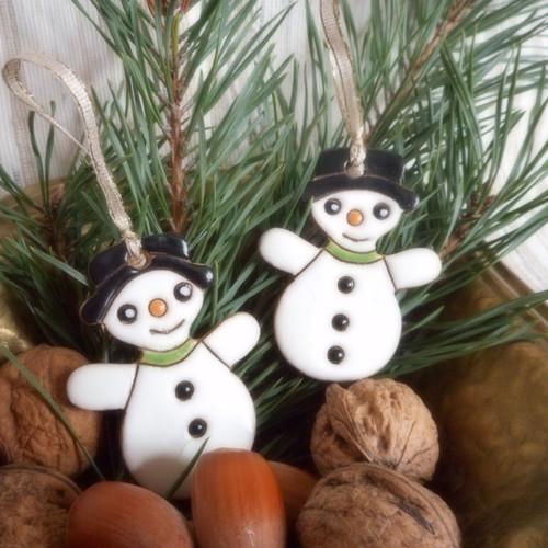 Vánoční ozdoba-sněhulák