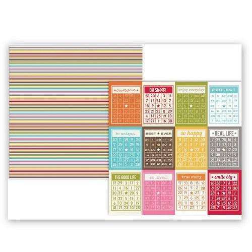 Scrapbookový papír SS/ 3x4 / Life Collection Bingo
