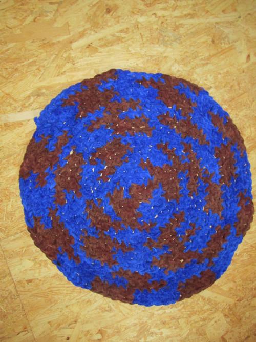 Hřejivý jemný modrý kobereček 60CM