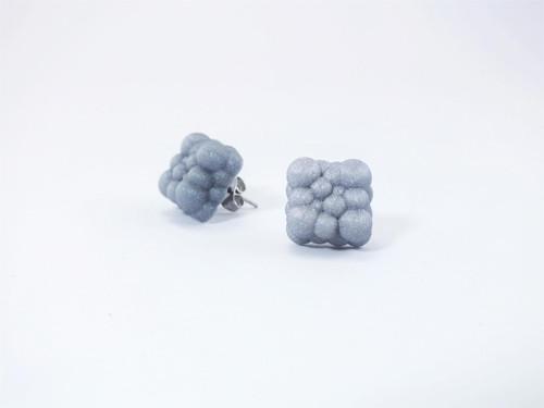 Náušnice cream silver