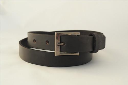 Kožený pásek 2,8 cm- černý -SKLADEM