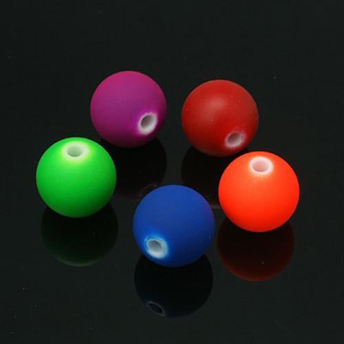 korálky akryl NEON mat / MIX / 10mm / 10ks