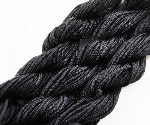 28m 90 stop 30yrd Černý Nylon Kabel Twisted Pleten