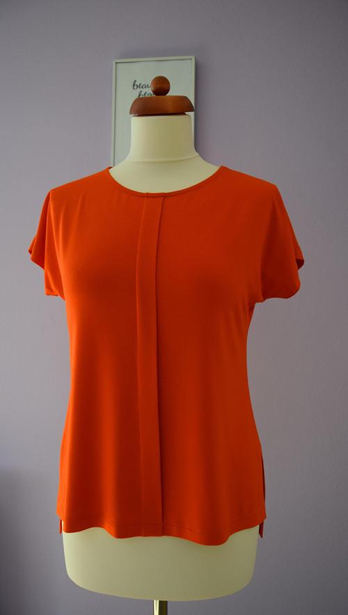 """dámské  triko \""""SYMETRIE\""""; oranžová"""