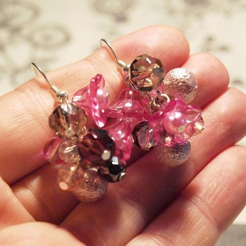Náušnice - Růžové