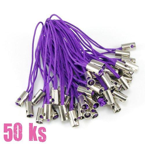Tmavě fialová poutka - 50 ks