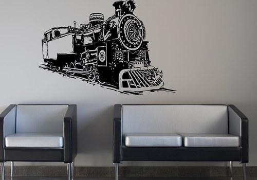 Samolepky na stěnu - Vlak (90 x 63 cm)