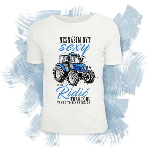 Tričko unisex - Sexy řidič traktoru