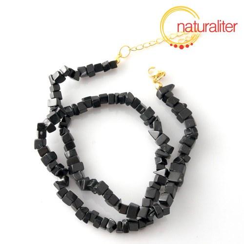 Onyx - zlomky, návlek 40cm / náhrdelník