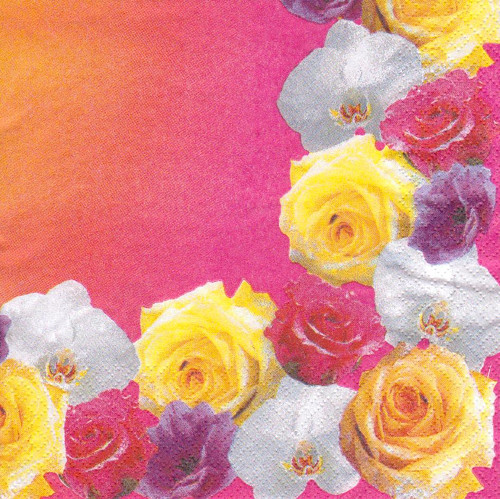 Ubrousek - růže na okrajích (3 ks - VÝPRODEJ)