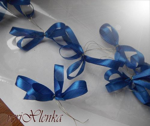 mašlička-modrá (10ks)