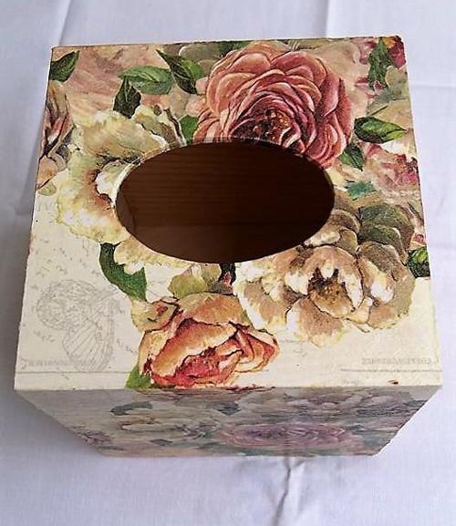 krabička na kapesníky kostka romance
