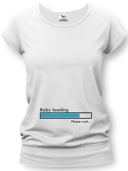 Těhotenské tričko s potiskem - baby loading