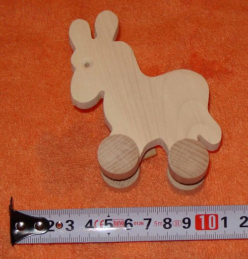 osel - dřevěná hračka