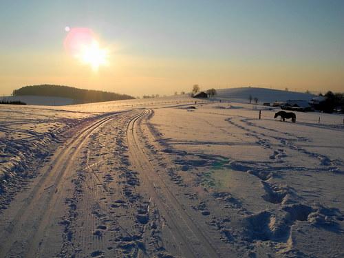 Krajina ticha...zima na lyžích ... pohlednice °