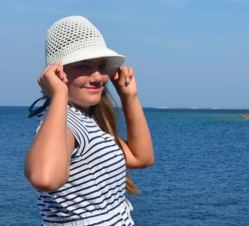 Námořní klobouček bílý