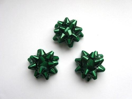 Mašlička - zelená 3ks (4cm)