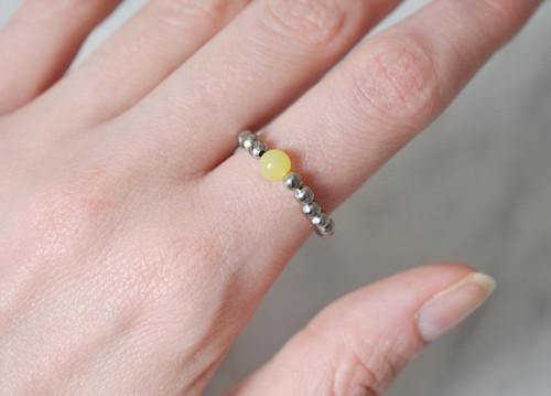 Korálkový prstýnek PERIDOT