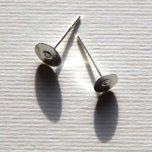 Puzetky 10mm - 100ks - Rhodiové
