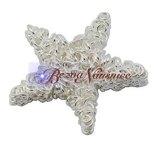 Motaná hvězda z drátu - barva stříbrná