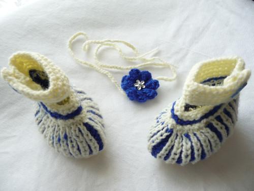 Čelenka+capáčky-sada béžovo-modrá
