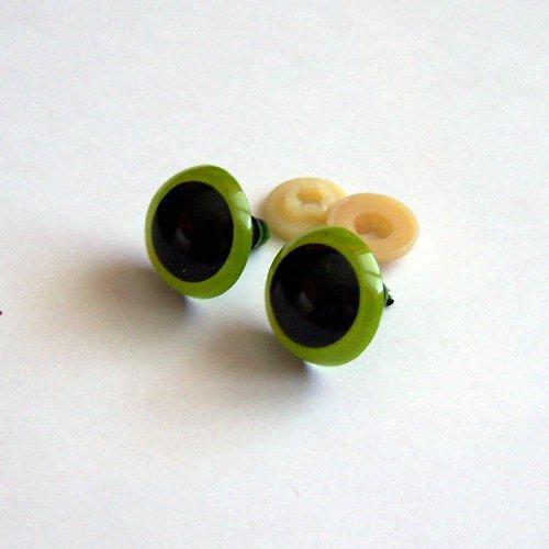 Bezpečnostní oči - zelená, 20 mm