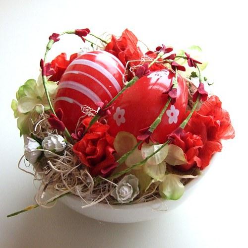 Velikonoční dekorace červená (37)
