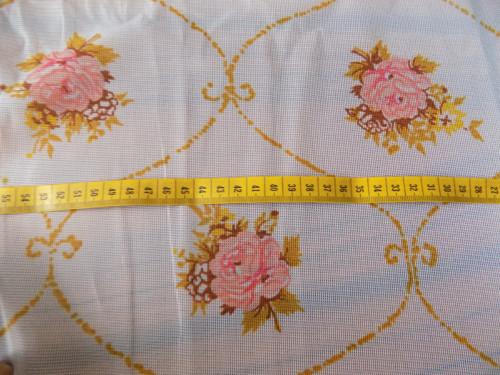 Barevná retro záclona 1,65mx4metry