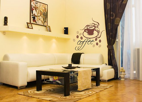 Coffee lounge - samolepka na zeď