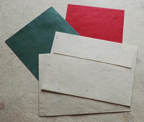 Obálky z ručního papíru Lokta - různé druhy