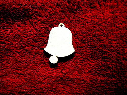 2D výřez ván.ozdoba zvonek-v.4,1x3,3cm