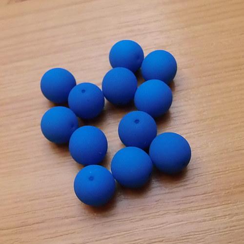 Neonové kuličky 10mm -  modré