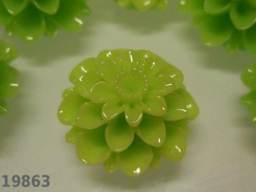 19863-B22 Kabošon květ limetkově ZELENÝ, bal. 2ks
