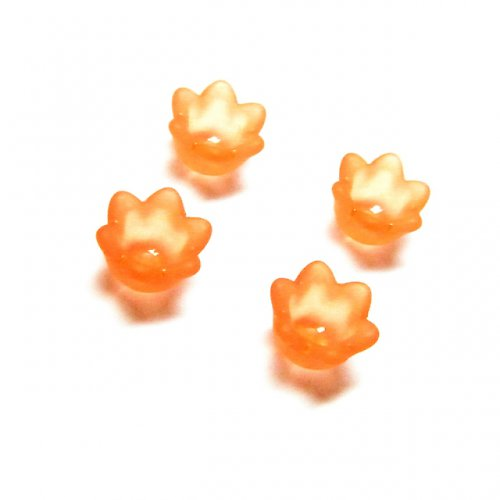 Zvonek 1 cm oranžový 4 ks