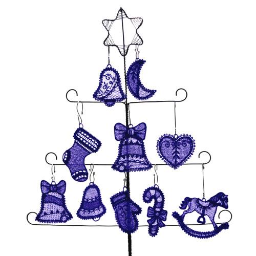 Vánoční ozdoby - pařížská modř - 10 ks