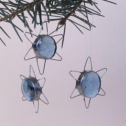 Vianočné dekorácie - Modrá hviezdička
