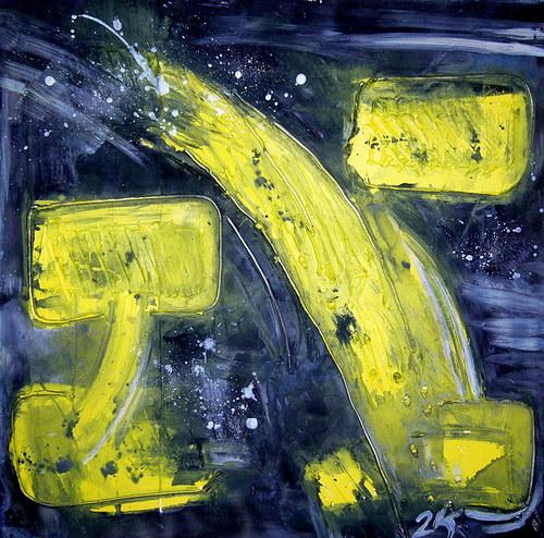 Abstraktní obraz 2K - Ve zpětném zrcátku