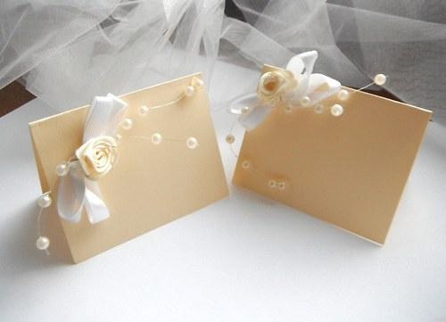 Svatební jmenovky - vanilková zmrzlina