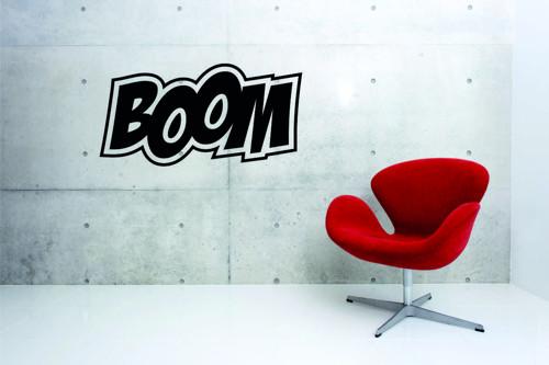 Samolepka na zeď - nápis BOOM