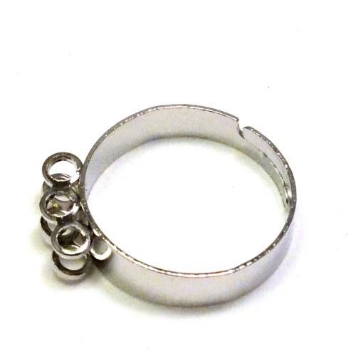 Základ na prsten platinový, 6 oček, 2 ks,