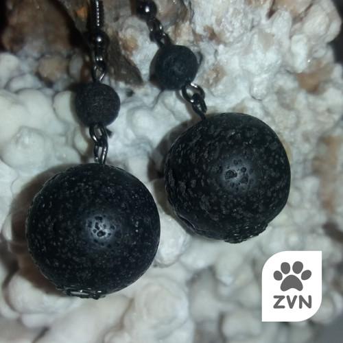Náušnice z lávového kamene